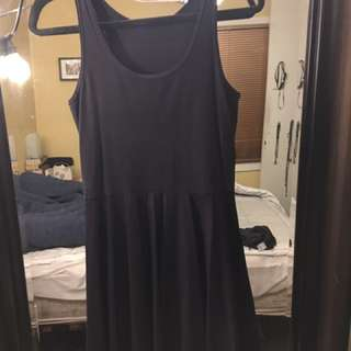 Black Milk Clothing Matte Black Skater Dress L