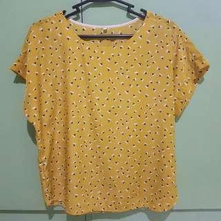 Yellow Printed Blouse