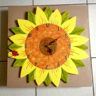 Sun Flower Wall Clock