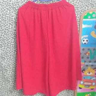 紅色雪紡裙褲