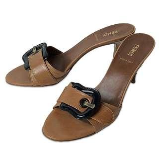 💯Authentic Fendi Sandal Heels