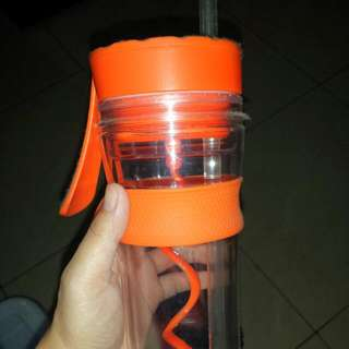Tumbler with Stirrer and Straw