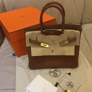 Brand New Hermes Birkin 30 Togo Gold