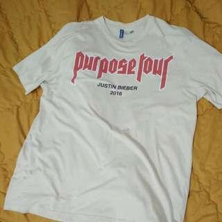 H&M Justin Bieber Purpose Tour tee