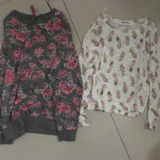 H&M Rose Sweater & Leaves Top