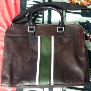 Fossil Mercer TZ Work BG Brown Leather