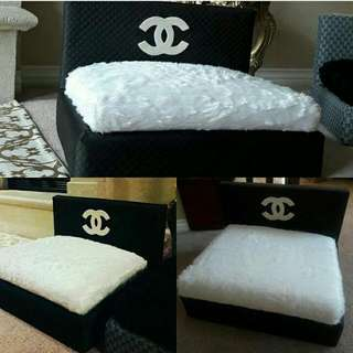 CHANEL Inspired Pet Bed