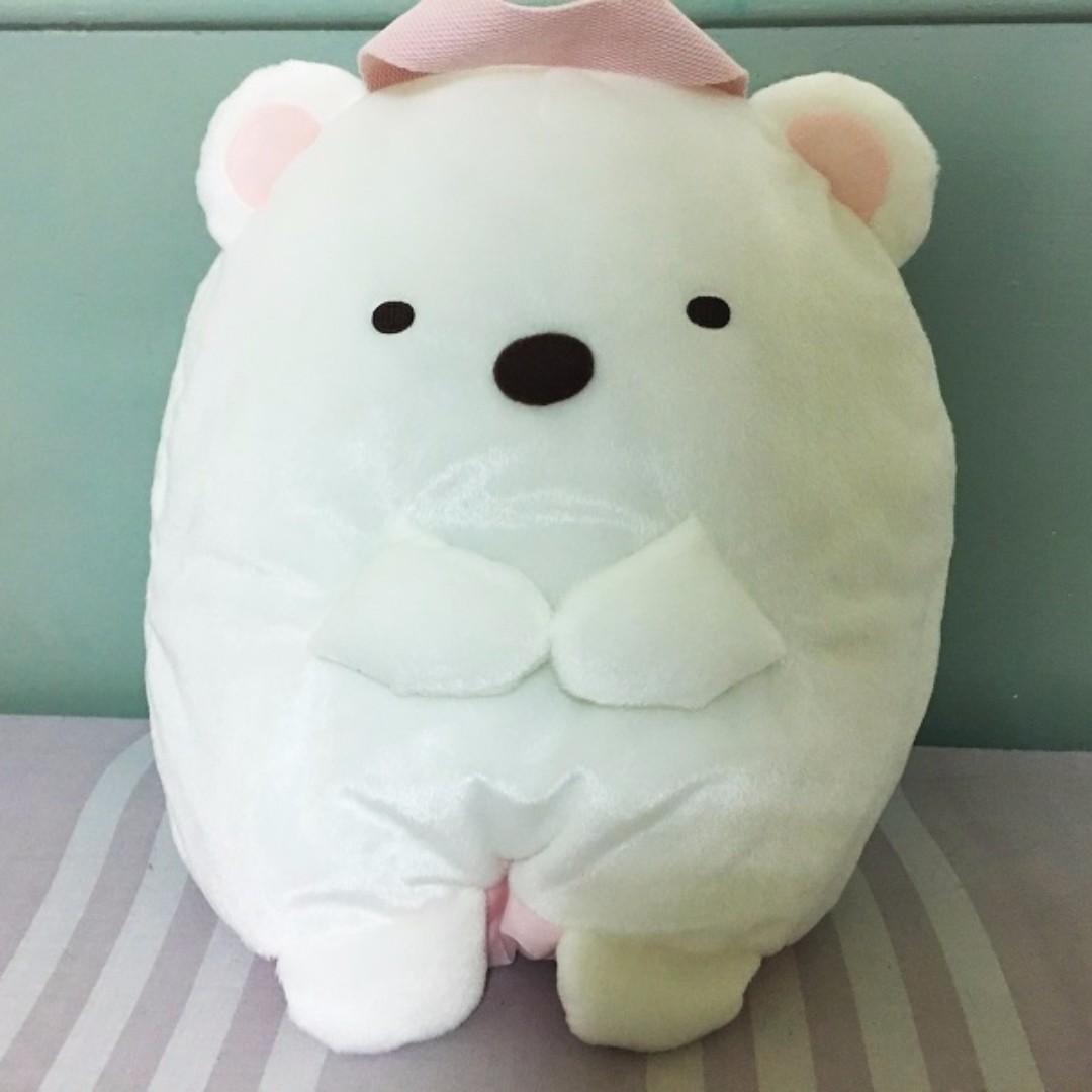 【日本正版】30公分角落生物白熊之塑膠袋蒐集袋也可以當家飾擺設哦