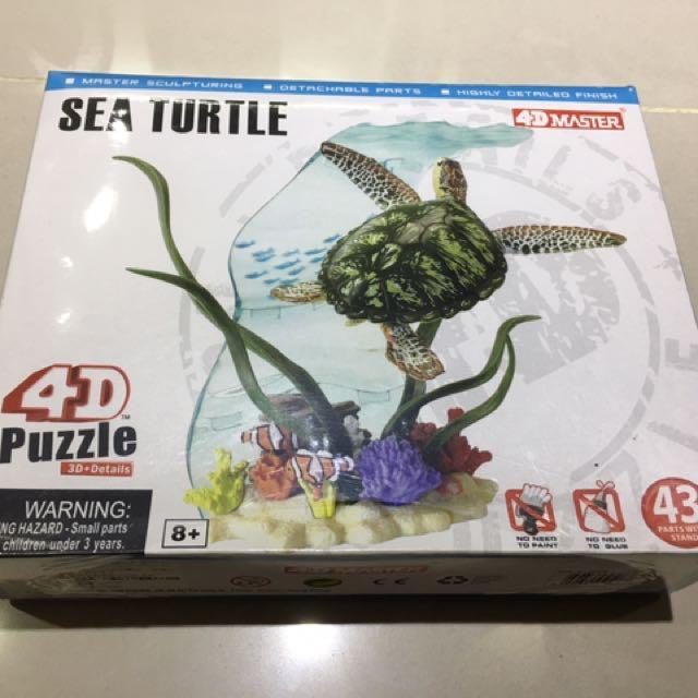 4D海龜立體組合模型