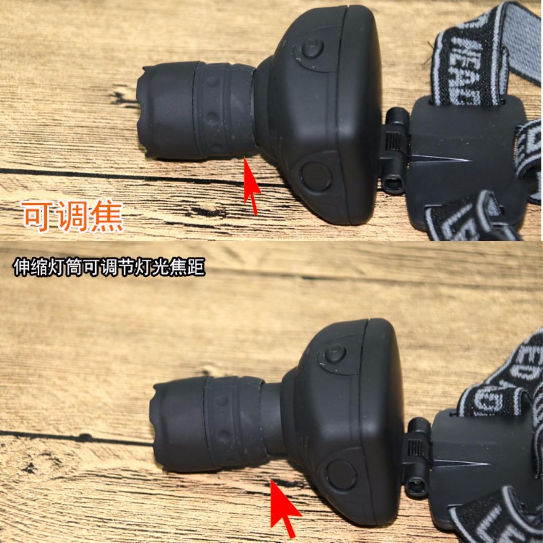 3W LED HEADLAMP HEADLIGHT LANTERN ZOOM HEAD TORCH LIGHT CYCLE BIKE RIDING LAMP