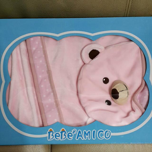 寵愛熊帽毯