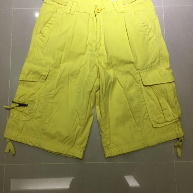 工作短褲(黃色)
