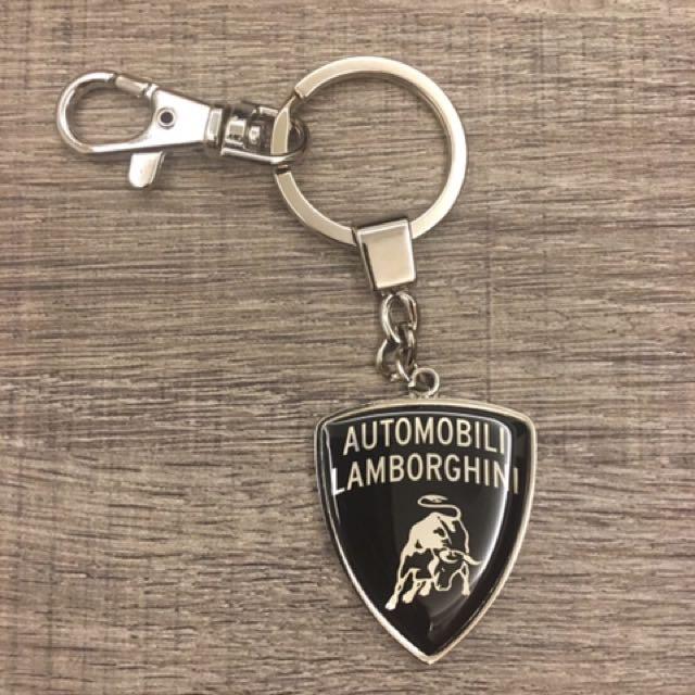 藍寶堅尼鑰匙圈黑色銀色