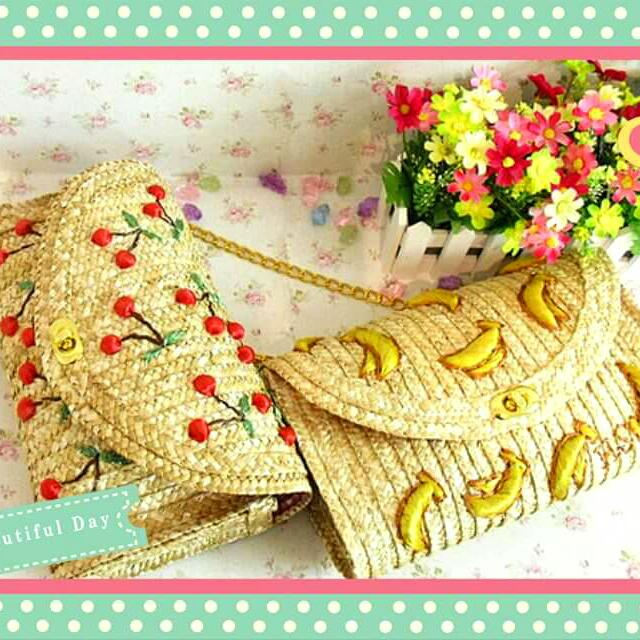 【售】🍒櫻桃包 竹籐編織包