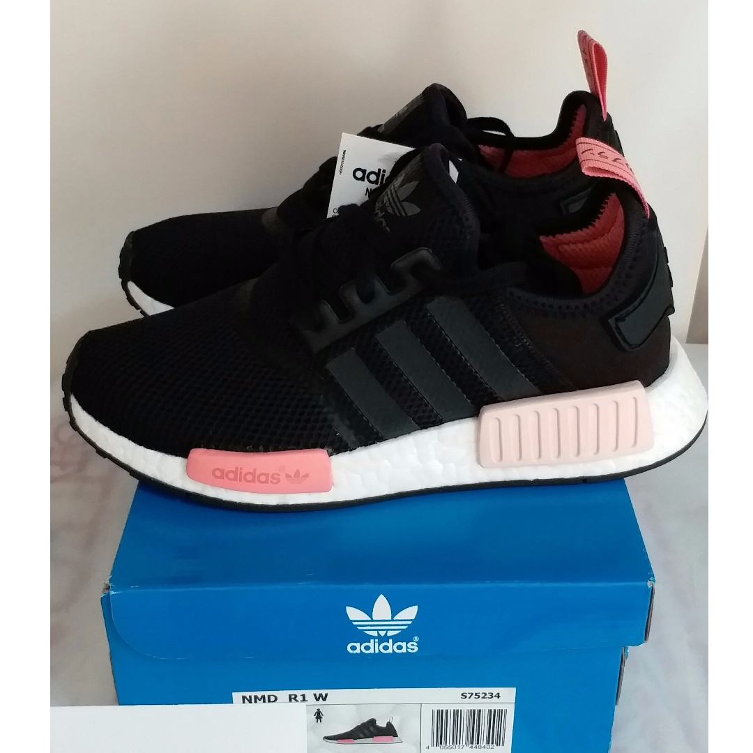 76842c7033689 全新女裝Brand New Women Adidas NMD R1 W Black Pink 黑粉S75234  UK6 US7.5 EU39.3 24.5cm