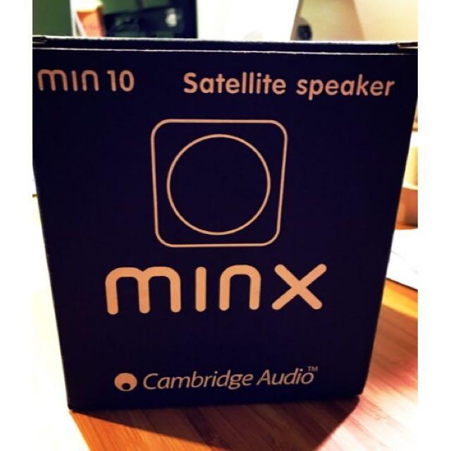 [出清]英國 Cambridge Audio MINX Min 10 迷你 骰子喇叭 衛星喇叭