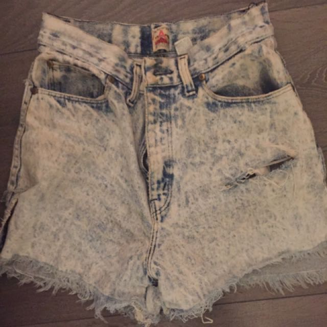 Acid Wash Jean Shorts