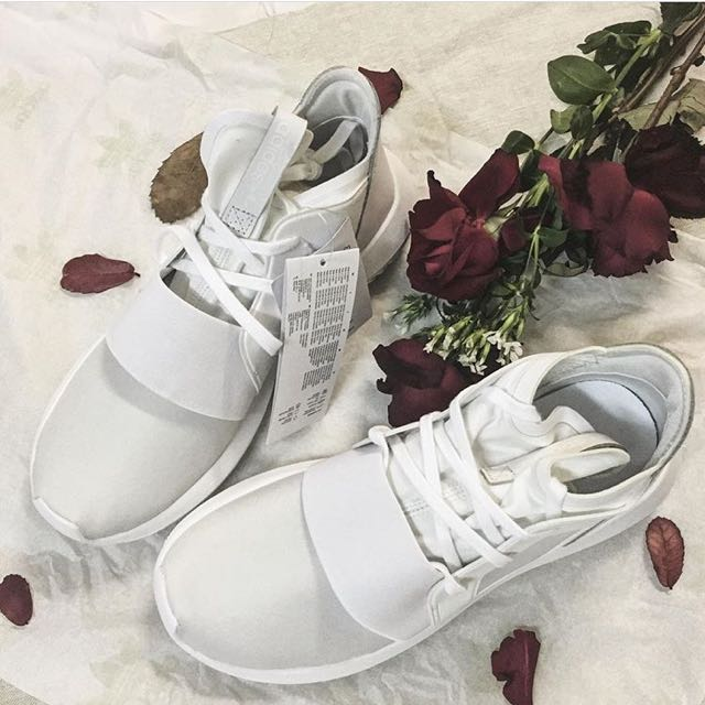 極新!!Adidas Tubular Defiant 愛迪達 慢跑 全白 球鞋 白鞋