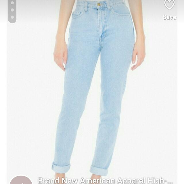 American Apparel High-waisted Jeans