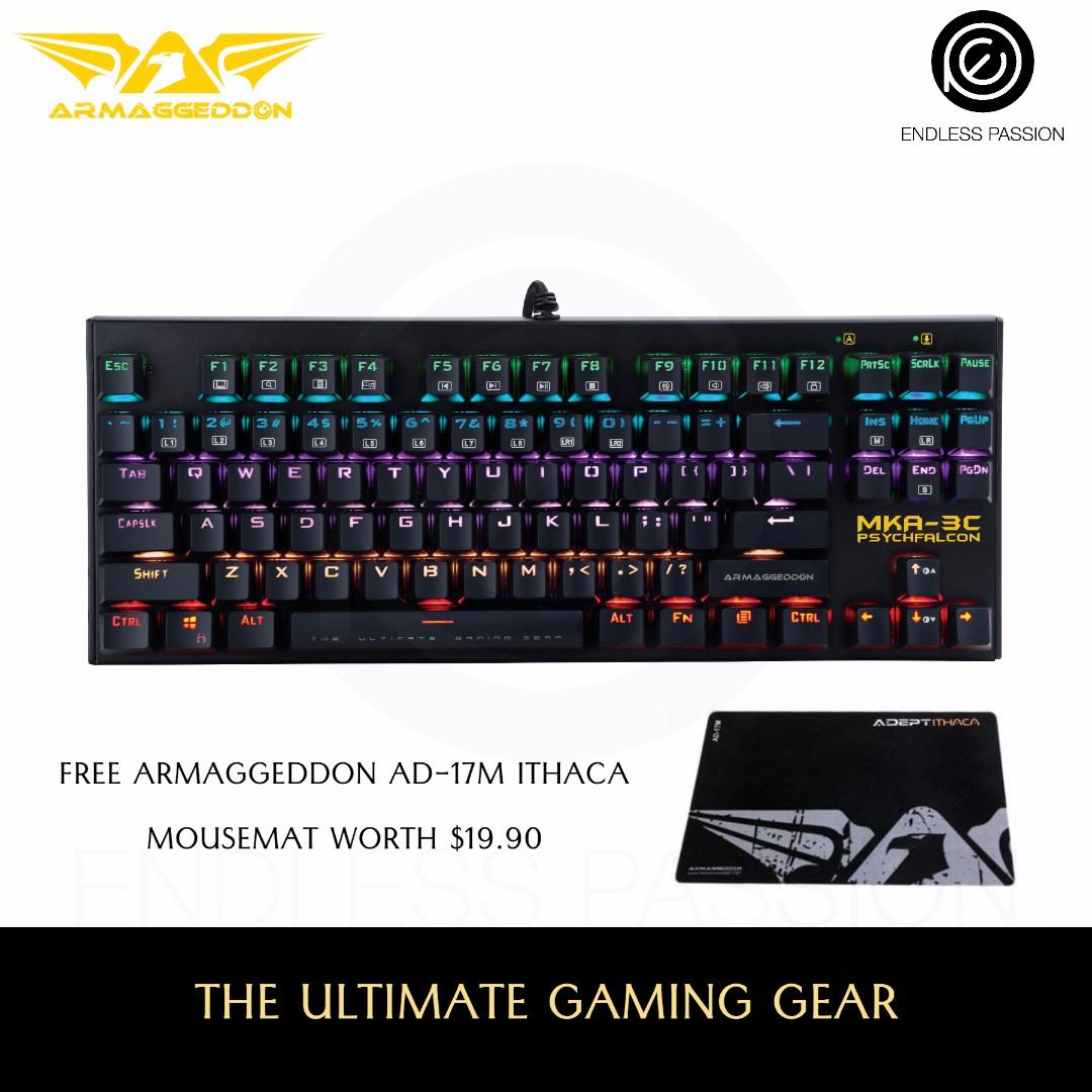 36db1df9203 Armaggeddon MKA-3C Psychfalcon Mechanical Keyboard (2017) + FREE ...