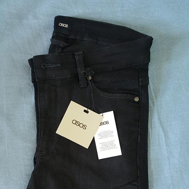"ASOS Super Skinny Black Jeans 28"""