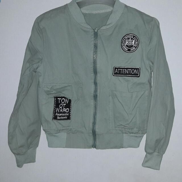 Attention Bomber - Army Pastel