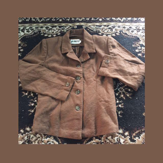 Auth AMG Chocolate Brown Coat