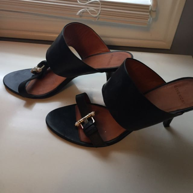 Authentic Black Givenchy Mules Size 9