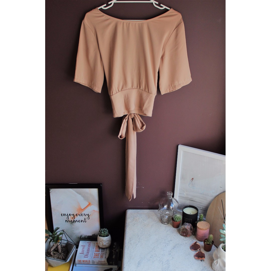 Backless Tie Up Shirt - MILU LUILO