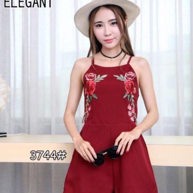 Bangkok Embroidered Sleeveless Romper