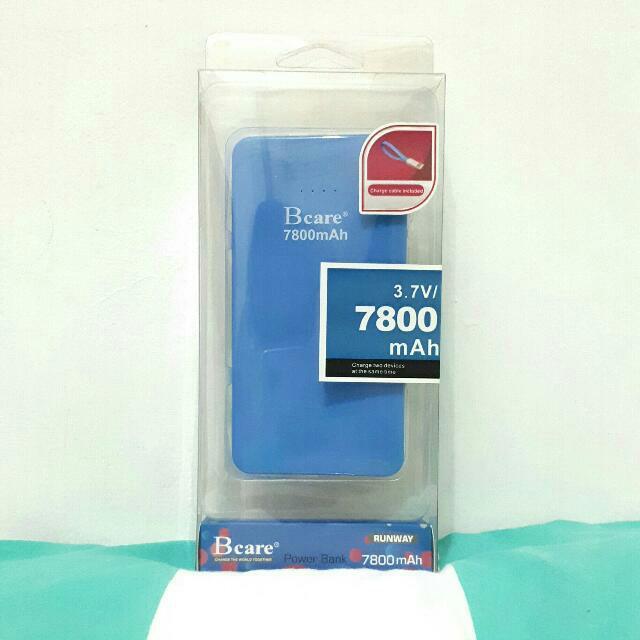 Bcare Power Bank 7800mAh Blue