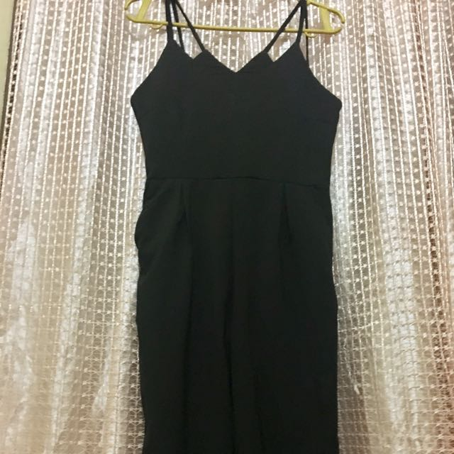 Black Jumpsuit With Pockets - Brand New