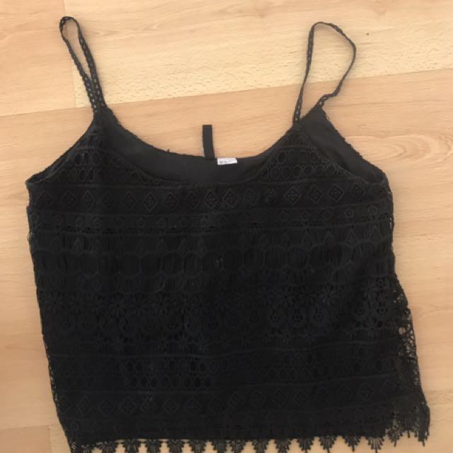 Black Lace M Top