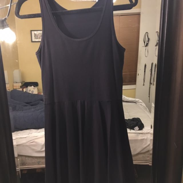 Black Milk Clothing Matte Black Skater Dress L