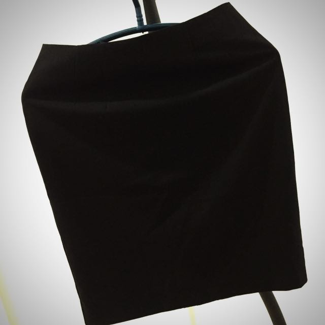 Preloved Black Office Skirt