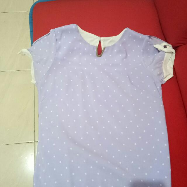 SALE Blouse purple soft