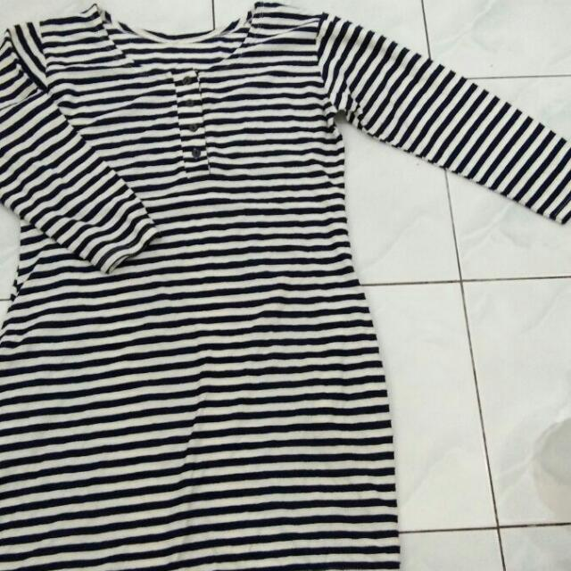 Blouse Strip Black And White