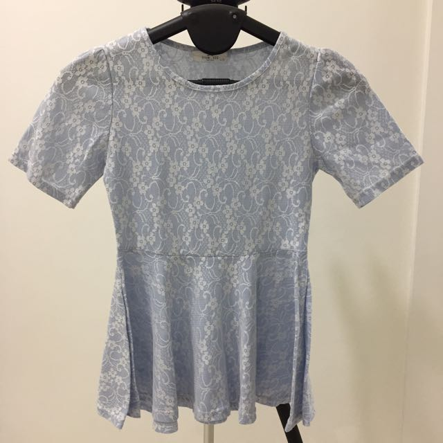 Preloved Blue Top with Flare