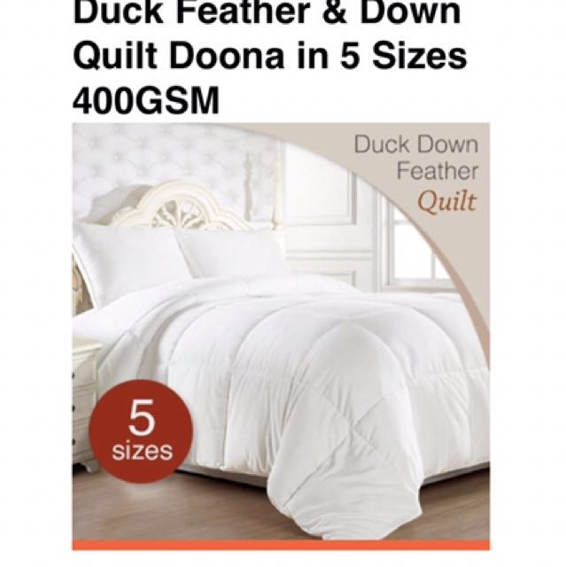 Brand new : Double white duck down quilt