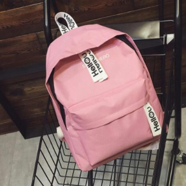Brandnew Canvass Backpack Pink -