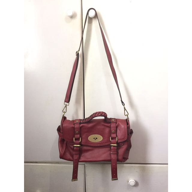 Mulberry Maroon Handbag with Strap