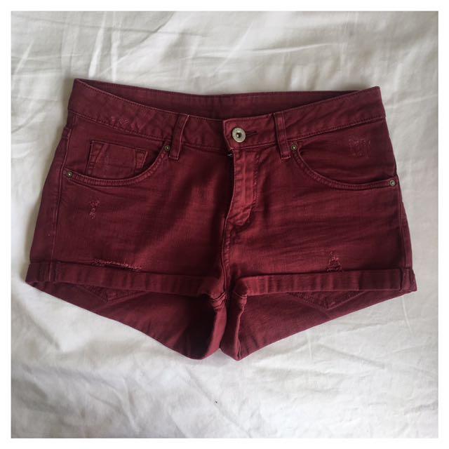 Burgundy H&M Shorts