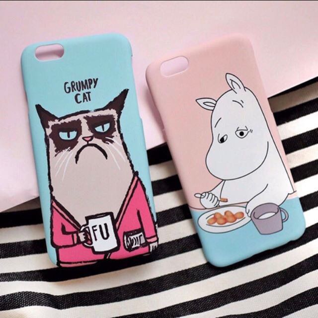 CASE GRUMPY CAT & MOOMIN IPHONE