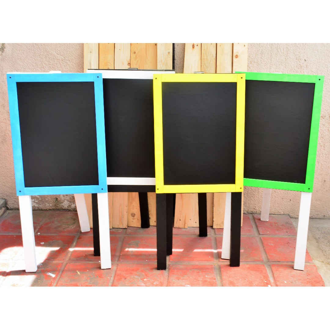 Chalkboard with stand Blue