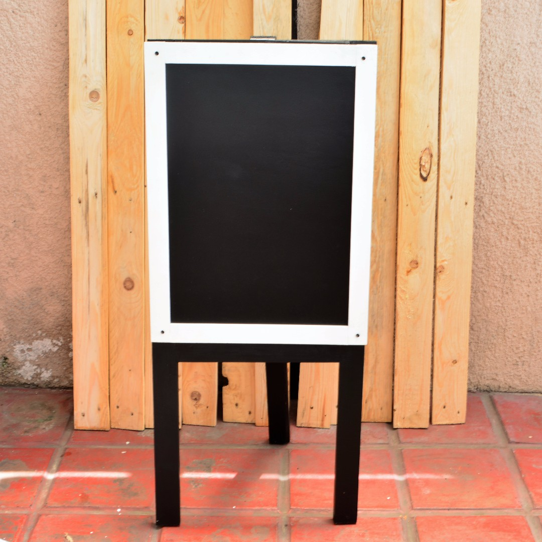 Chalkboard with stand White frame