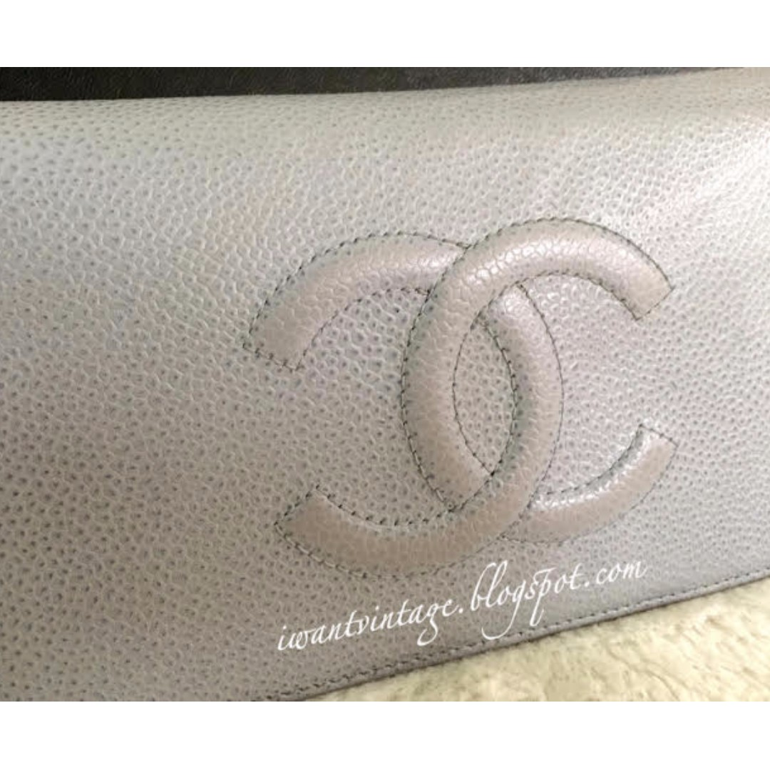 e1cdc3b67753 Chanel A48651 CC Caviar Bi-Fold Yen Wallet-Bleu Clair, Luxury, Bags &  Wallets on Carousell