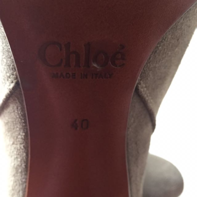 Chloe Size 9 Ankle Suede Boots