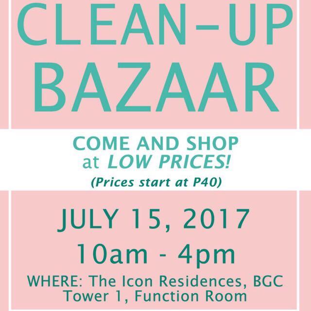 CLOSET CLEAN-UP BAZAAR