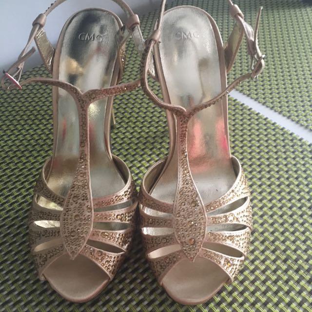 CMG Gold Platform Shoes