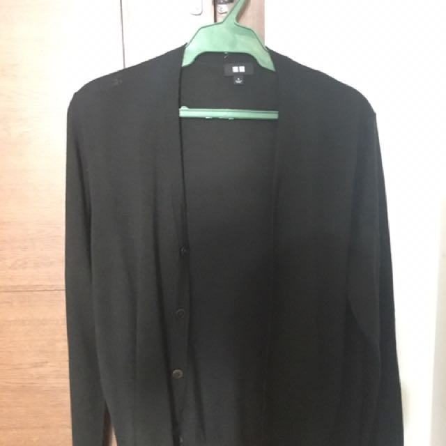 Dark Green Uniqlo Cardigan